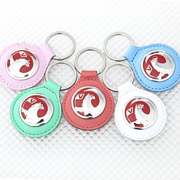 Fob 4400.43 RED Leather Richbrook Vauxhall Logo Leather Key Ring