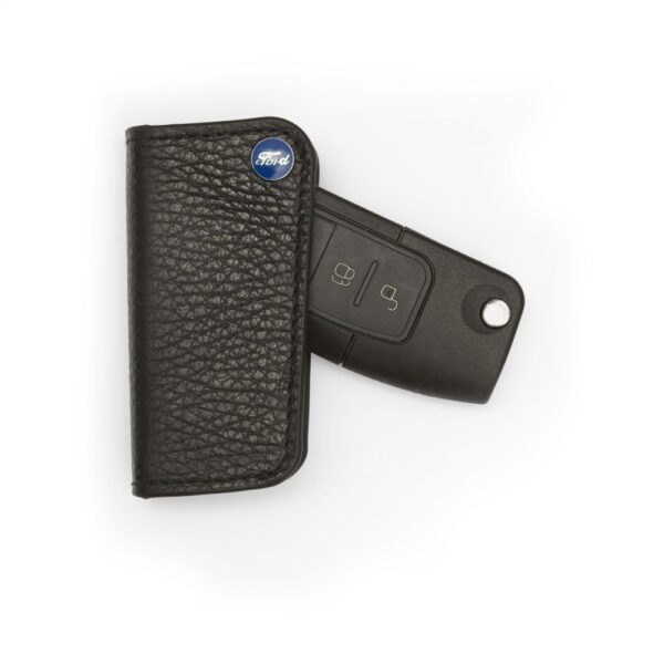 Richbrook FlipFob Black Leather Key Protection Cover Holder for Seat Car Keys