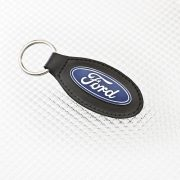 Ford Keyring - Black Leather
