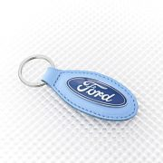 Ford Keyring - Blue Leather