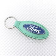 Ford Keyring - Green Leather