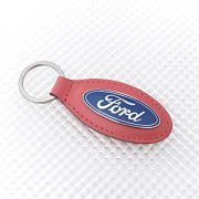 Official Ford Keyring - Red Leather