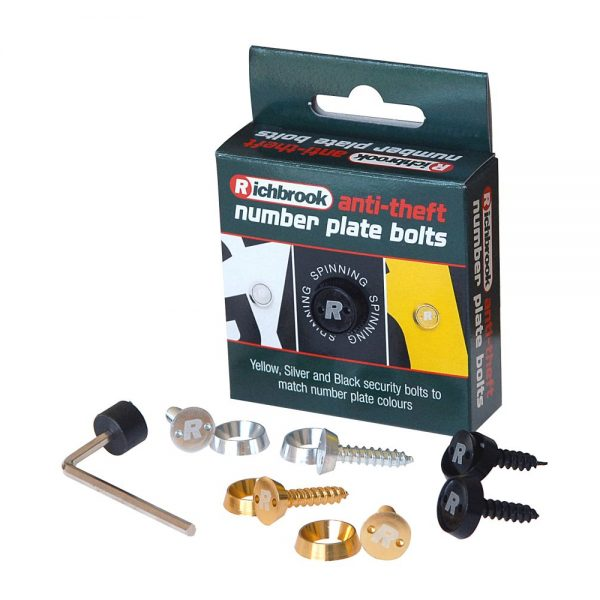 Richbrook Anti-Theft Number Plate Bolts
