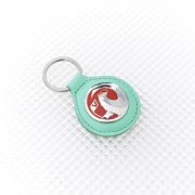 Vauxhall Keyring - Green Leather