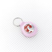Vauxhall Keyring - Pink leather