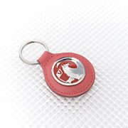 Vauxhall Keyring - Red Leather