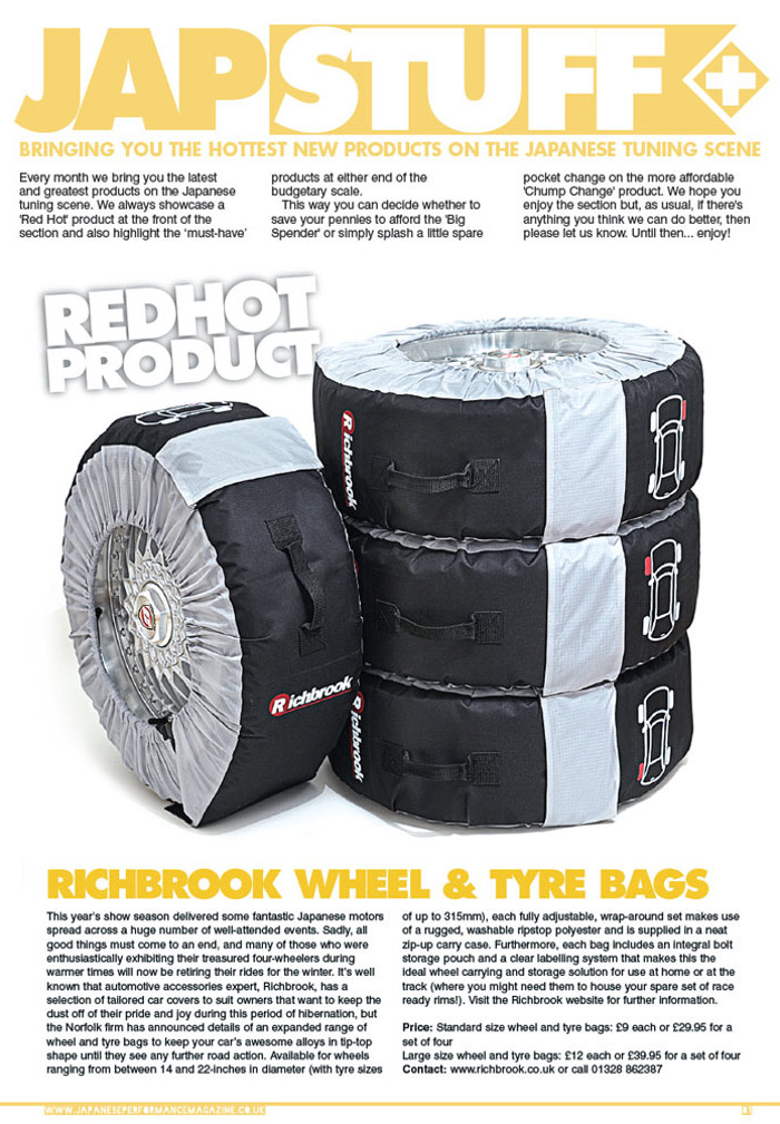 Japanese Performance Wheel & Tyre Bags