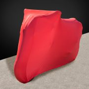 Red Indoor Motorcycle Cover Front - Motorbike Covers