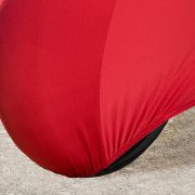 Red Motorbike Cover Wheel
